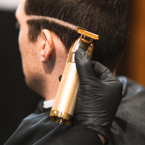 Starting a fade at Barber & Co